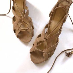 MICHAEL Michael Kors Shoes - Michael Kors Mirabel camel lace block heel sandals